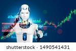 robot trading on stock market.... | Shutterstock . vector #1490541431