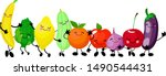 very adorable fruits and... | Shutterstock .eps vector #1490544431