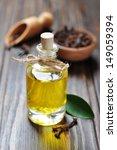 oil of cloves in a glass bottle ... | Shutterstock . vector #149059394