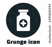grunge medicine bottle icon... | Shutterstock .eps vector #1490606594