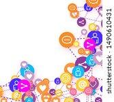 social media marketing ... | Shutterstock .eps vector #1490610431