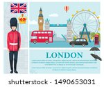 Flat Travel To London Concept...