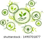sustainability icon concept ... | Shutterstock .eps vector #1490701877