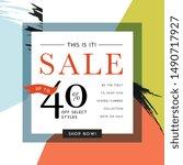 sale sign design in... | Shutterstock .eps vector #1490717927