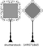 wrought iron signage | Shutterstock . vector #149071865