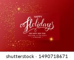 holidays decorative greeting... | Shutterstock .eps vector #1490718671