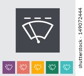 car flat icon wiper. vector... | Shutterstock .eps vector #149072444