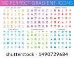 180 trendy perfect gradient... | Shutterstock .eps vector #1490729684