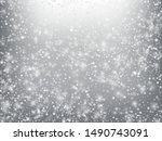 winter holidays falling snow... | Shutterstock .eps vector #1490743091