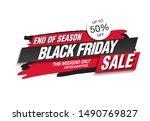 black friday sale banner layout ... | Shutterstock .eps vector #1490769827
