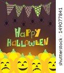 vector halloween card with... | Shutterstock .eps vector #149077841