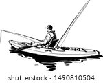The Vector Sketch Of The Kayak...