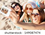 summer holidays  technology and ... | Shutterstock . vector #149087474