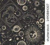 vector illustration set of moon ... | Shutterstock .eps vector #1490884307
