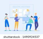 business meeting teamwork... | Shutterstock .eps vector #1490924537