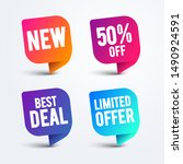 vector colorful speech bubble... | Shutterstock .eps vector #1490924591