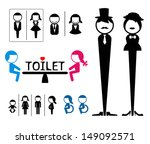 toilet sign vector | Shutterstock .eps vector #149092571