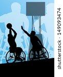Active Disabled Men Basketball...