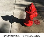 Red Fire Hydrant Casting A...