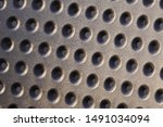 perforated material  many small ...