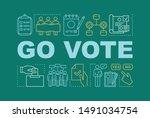 go vote word concepts banner....