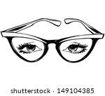 cat eye glasses   retro clip... | Shutterstock .eps vector #149104385