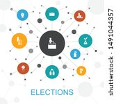 elections trendy web concept...