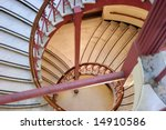 Spiral Staircase With Red...