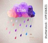 retro cloud with rain symbol ... | Shutterstock .eps vector #149106821