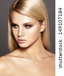 fashion model with bright make... | Shutterstock . vector #149107184