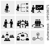 office people icons set.   Shutterstock .eps vector #149108171