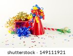 party hat  present and favor... | Shutterstock . vector #149111921