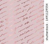 rose marble. seamless pattern.... | Shutterstock .eps vector #1491129554