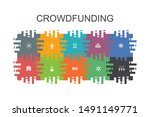 crowdfunding cartoon template...