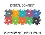 digital content cartoon...