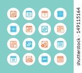 calendar icon set | Shutterstock .eps vector #149115164