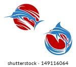 Blue Marlin Fish In Ocean Waves ...