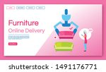 furniture online delivery... | Shutterstock .eps vector #1491176771