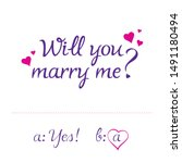 """will you marry me "" lettering... 