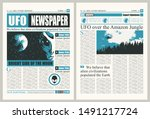 vector template for the layout... | Shutterstock .eps vector #1491217724