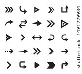 direction arrows  pointing...   Shutterstock .eps vector #1491229934