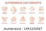 autonomous car concept icons... | Shutterstock .eps vector #1491233567