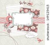 cute christmas scrapbook... | Shutterstock .eps vector #149125415
