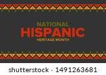 national hispanic heritage...   Shutterstock .eps vector #1491263681