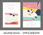 set of creative universal cards.... | Shutterstock .eps vector #1491268244