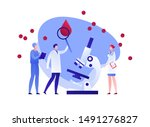 vector flat blood laboratory...