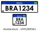 License Car Plate Brazil. Only...