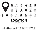 location icons set. pin icons....   Shutterstock .eps vector #1491310964