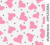 romantic seamless pattern with... | Shutterstock .eps vector #1491313061