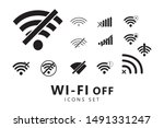 offline wifi icons set. wifi... | Shutterstock .eps vector #1491331247
